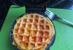 3 Ingredient Crispy Keto Breakfast Waffles