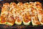 Chicken Parmesan-Stuffed Zucchini Boats