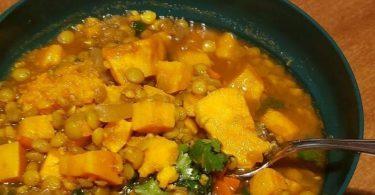 Moroccan Sweet Potato Lentil Stew