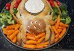 Spider Bread Dip Bowl Halloween