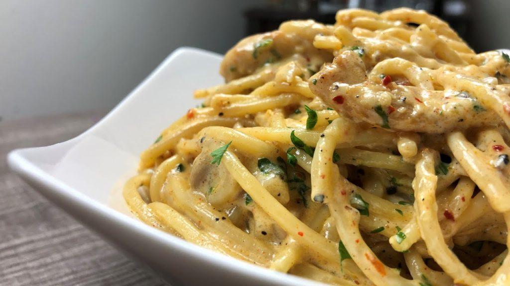 Chicken Alfredo Spaghetti - Homemade Italian Recipe